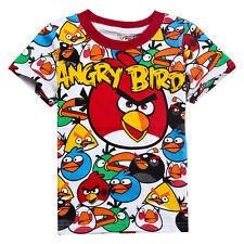 ANGRY BIRDS RED BIRDS BOYS IPHONE/IPAD GAME CARTOON CHARACTER T-SHIRT IDEAL GIFT