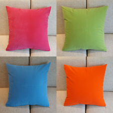 1 Pcs Solid Candy Colors Back Waist Micro Suede Cushion Covers Pillow Cases