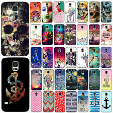 New Various Painted Pattern Phone Hard Back Skin Case Fr Samsung Galaxy S3 S4 S5