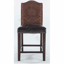Spanish Leather Seat Stool W/Red Tapestry Back Bar Chair & Counter CHOOSE QTY