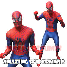 Amazing Spider Man Spiderman 2 Mens Costume Marvel Licensed Morphsuit  M L XL