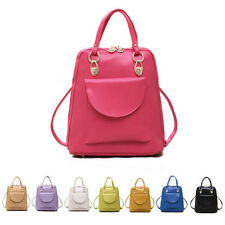 2014 Womens PU Faux Leather Tote Handbag Shoulder Bag Backpack Purse
