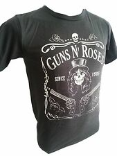 Retro Guns and roses T-shirt Rock Music Size M/L stones washed black R-049