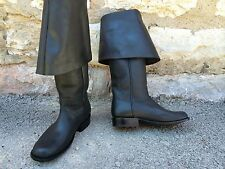 Pirates of The Caribbean Captain Jack Sparrow Leather Pirate Boots Made in USA