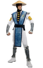 LICENSED ADULT MENS MORTAL KOMBAT RAIDEN NINJA KARATE HALLOWEEN COSTUME