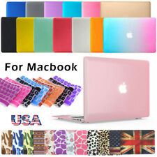 "Laptop Rubberized Cover Case Hard Shell+keyboard Cover for Macbook11""12""13"" 15"""