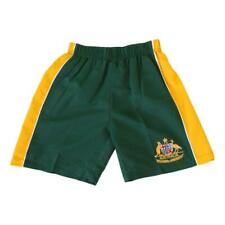 Kids Boys Board Shorts Australia Day Souvenir Beach Swim Surf Sport–Green & Gold