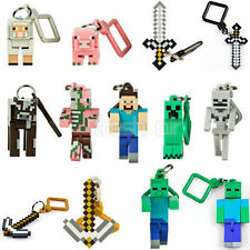 1pcs MINECRAFT 3D HANGERS BACK PACK CLIPS KEYRING KEYCHAIN BELT CLIP 3 INCH NEW