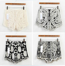 Women's Vintage Crochet Lace Shorts Shorts Pants
