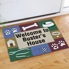 Personalized Doggy's House Pet Owner's Gift Dog Doormat - Custom Floor Mat