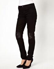 JOE'S THE SKINNY JEAN WITH STUDDED KNEE IN BLACK NWT SIZE 24, 25 , 27, 28,31