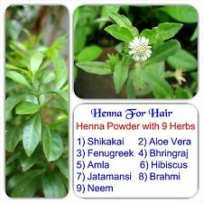 Henna for hair - 100% Natural henna powder with 9 Essential herbs