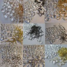 500 pcs.14 mm Crystal Octagon Chandelier Droplets 500 a Choice of Hanging Ties