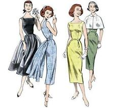 Butterick Retro 1950s Sheath and Fit & Flared Dress Capelet Sew Pattern 6-12 OOP