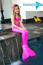 FANTASY FIN SWIMMABLE KID'S MERMAID TAIL with MONOFIN  - JAZZY PINK