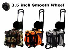 KAZE SPORTS Single 1 Ball Deluxe Bowling Roller Tote Bag + Joey Add-On = 2 Ball