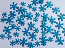 100 FROZEN white 2 sizes snowflakes confetti table decorations art white blue