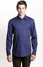 New Armani Exchange AX Mens Muscle/Slim Fit Cotton Basic Button Front Shirt