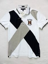 NWT TOMMY HILFIGER MEN'S CUSTOM FIT PIECED POLO