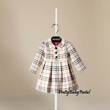 NEW GIRLS Kid's Clothes Classic Plaid Long Sleeve Dress