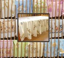 NURSERY BABY COT VALANCE FLAT SHEET WITH FRILLS 60X120 cm