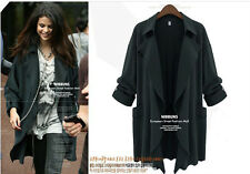 2014 Autumn Womens Fashion Loose long jacket Dust Style outwear parka coat