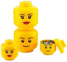 Large Lego Storage Head Compartment Tidy Bricks Character Building Blocks Store