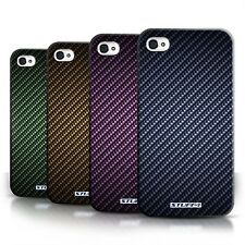 STUFF4 Back Case/Cover/Skin for Apple iPhone 4/4S/Carbon Fiber Effect/Pattern