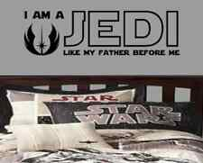 Star Wars I am a Jedi like my father before me Luke Skywalker vinyl decal yoda