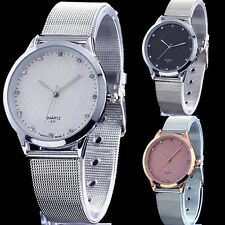 New Fashion Luxury Silver Couple Lover Design Stainless Steel Quartz Wrist Watch