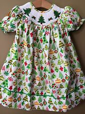 Girls Boutique CHRISTMAS TREE Smocked Dress NEW NWT 12 18 24 Months 2T 3T 4T