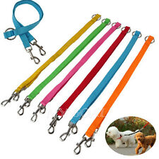 Pet Dog Nylon Double Lead Leash Splitter Coupler with Clip for Collar Harness