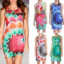 Fashion Desigual Color Puzzle Dresses Sexy Women Dress Casual Vestidos 5 Color