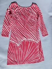 New Lilly Pulitzer XS SML Topanga Jersey Dress Watermelon shell strip engineered