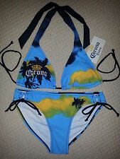 CORONA BEER OFFICIALLY LICENSED SUNSET BEACH STRING BIKINI SWIM WEAR SUIT