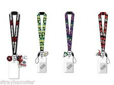 Joker Harley Quinn Deadpool or Simpsons Lanyard ID Key holder + dangle DC Comics
