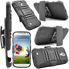 Armor Rugged Hard Case Stand + Belt Clip Hoster For Samsung Galaxy S4 IV i9500