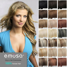 Emosa Clip in Hair Extension Natural Human Hair Soft Remy Brazilian Hair Product