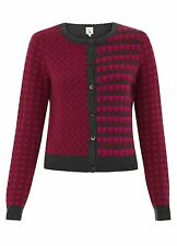YUMI THE HOTCHPOTCH CARDIGAN PINK  Y1418  RRP £48.00 VAR-SIZES