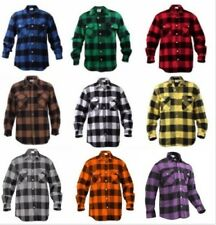 Flannel Shirt Extra Heavyweight Brawny Buffalo Plaid Long Sleeve  Rothco 4739