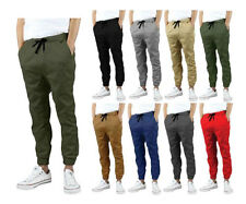 KAYDEN K Men's Drop Crotch Twill Jogger Pants S~2X