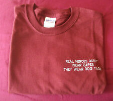 PARACHUTE REGIMENT REAL HEROES DON'T WEAR CAPES THEY WEAR DOG TAGS T SHIRT