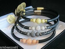ARABESQUES JEWELS BRACELET/BANGLE WITH  GENUINE STERLING SILVER BEADS. MAGNETIC