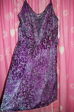 NWT WOMENS SEXY PURPLE LEOPARD PRINT SPRING CRUISE DRESS PLUS SIZE 3X 22 24