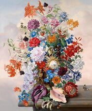 Still Life Floral & flowers HD Print Oil painting Picture on canvas L068