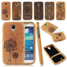 Carved Handicraft Natural Wooden Bamboo Case Cover for Samsung Galaxy S4 i9500