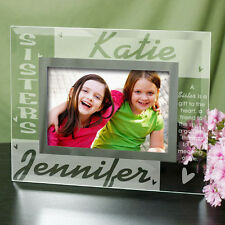 Personalized SISTERS 2 Names & Poem Custom Glass Picture Photo Frame - 2 Sizes