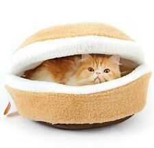 New Hot Warm Sea Shell Pet Dog Cat Bed House Sleeping Bag Roof Removable S,L