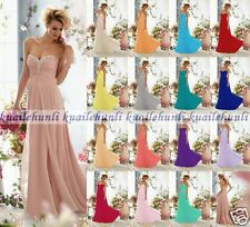 Long Chiffon Bridesmaid Dresses Evening Formal Party Prom Dress Stock Size 6-18