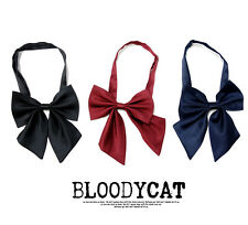 Bloodycat Unisex Multi Colored Fashionable Smart School Ribbon Tie - Adjustable